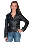 Scully Western Jacket Womens Leather Motorcycle Zipper L657