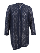 Alfani Women's Plus Size Crocheted Duster Cardigan
