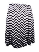 Alfani Women's Plus Size Ombré Zigzag-Print A-Line Skirt