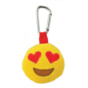 Emoji Backpack Clip, Heart Eyes