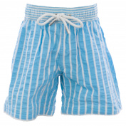 NAILA Boy's Above Knee Swim Trunks Sz 6 Years Blue/White