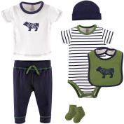 Yoga Sprout Newborn Baby Boys' 6pc Layette Set, Choose Your Colour & Size