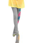 Juniors Low Rise Slim Fitting Lip Pattern Details Cropped Leggings White