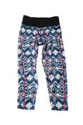 Jessica Simpson Juniors Blue Prism Chevron Printed Cropped Leggings S