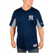 MLB New York Yankees Brett Gardner Big Men's Short Sleeve Button Jersey, 2XL