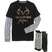 Realtree Big Men's Combo Graphic Shirt & Sock, 2XL