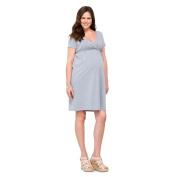 Maternity Short Sleeve Nursing Friendly Dress Grey M-Liz Lange 15422902