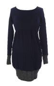 JULES & JIM Maternity Women's Colour Block Dress Medium Navy/Grey