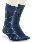 Big & Tall Harbour Bay Continuous Comfort 2-pk Allover Diamond Dress Socks