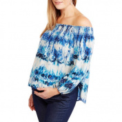 Whoa, Wait Maternity Off the Shoulder Smocked Top