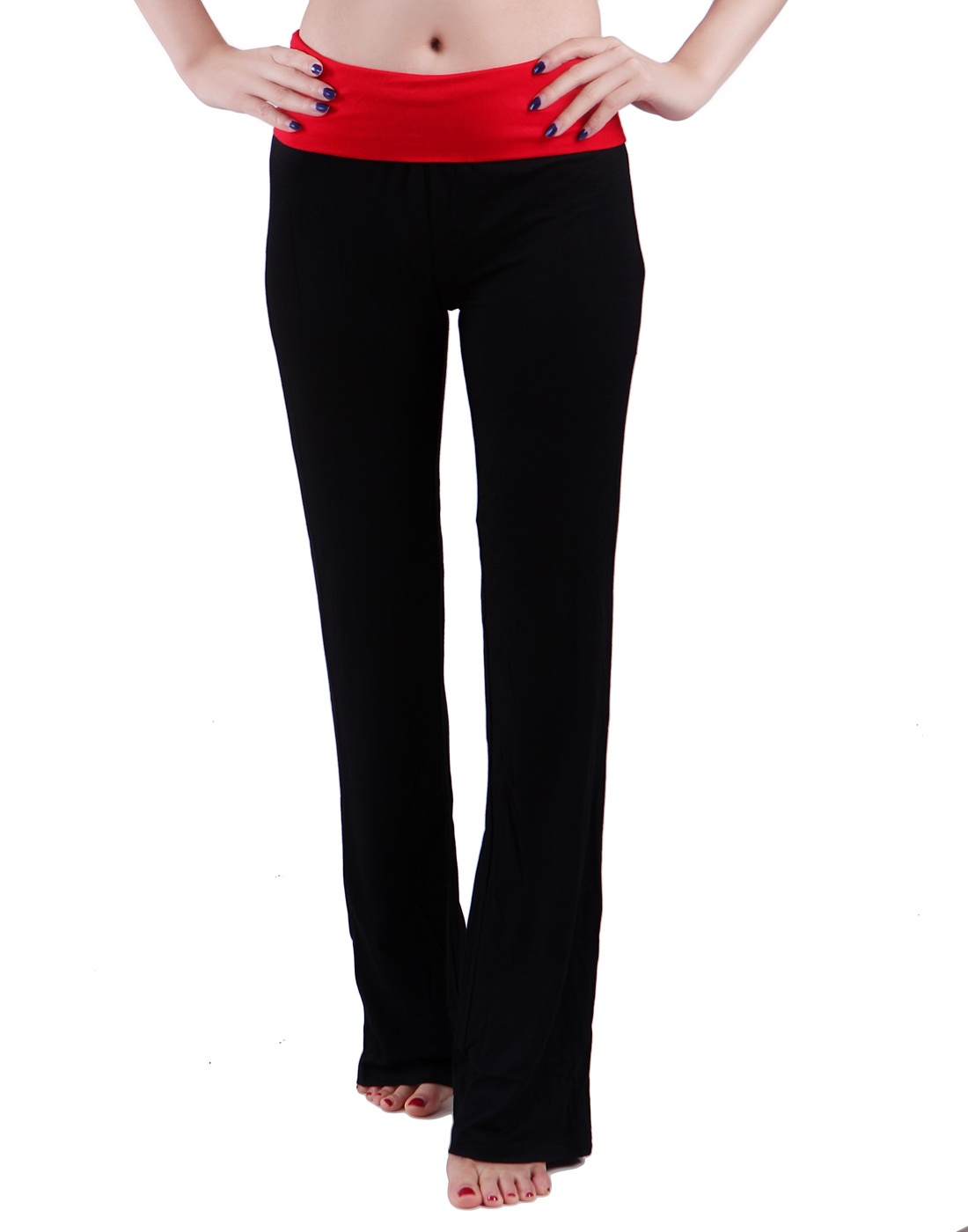 black-amp-red-s-HDE-Women-039-s-Maternity-Yoga-Pants-Comfortable-Lounge-Pregnancy
