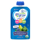 Go & Grow by Similac Pouches with OptiGRO™, Pear, Blueberry, Spinach Puree, For 6+ Months, Organic Baby Food, 120mls