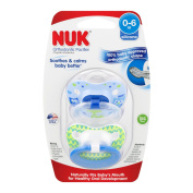NUK Woodlands Orthodontic Pacifiers, 2 ct