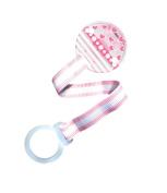 RaZbaby Keep-It-Kleen Pacifier Holder, Pink Hearts