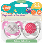 Ulubulu Pink Heart/Plaid Moroccan, 6-18 Month, 2-Pack
