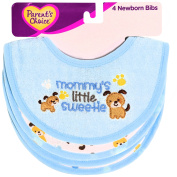 Parent's Choice Newborn Bibs, Mommy's Sweetie, Blue, 4 count
