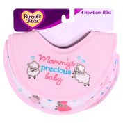 Parent's Choice Newborn Bibs, Mommy's Baby, Pink, 4 count