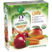 Gerber Organic 2nd Foods Baby Food, Carrots, Apples & Mangoes, 100ml Pouch