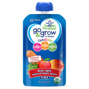 Go & Grow by Similac Fruit and Veggie Pouches with OptiGRO™, Mango, Apple, Butternut Squash, Spinach Puree, For Toddlers, Organic Baby Food, 120mls