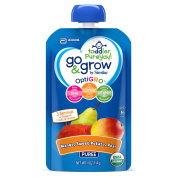Go & Grow by Similac Fruit and Veggie Pouches with OptiGRO™, Mango, Sweet Potato, Pear Puree, For Toddlers, Organic Baby Food, 120mls