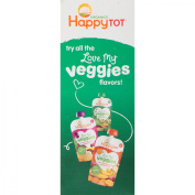 Happy Tot® Organics Love My Veggies Zucchini, Pears, Chickpeas & Kale Veggie & Fruit Blend 4-120ml Pouches