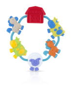 Nuby Teething Ring with Bugs and Flowers