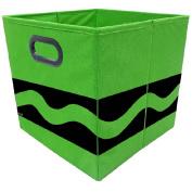 Crayola Black Serpentine Green Storage Bin