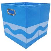 Crayola Tone Serpentine Blue Storage Bin