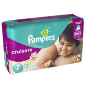 Pampers Cruisers Nappies, Size 7, 16 Nappies