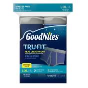Goodnites Tru-Fit Bedwetting Underwear for Boys, Starter Pack