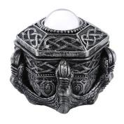 Mediaeval Fantasy Dragon Claw with Crystal Orb Decorative Trinket Box