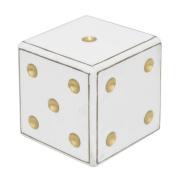 Three Hands Co. Wood Dice Tabletop Decorative Box