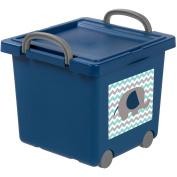 IRIS Toy Storage Box, Navy Blue