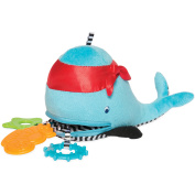 Manhattan Toy Zip and Play Waldon Whale Baby Plush and Teether