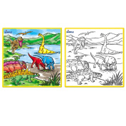 Matashi Kids Small Washable Colouring Play Mat with 'Jurassic Dinosaur Era' Design by Dimple