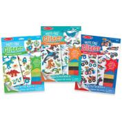 Melissa & Doug Mess-Free Glitter Foam Sticker Activity Kits Set