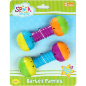 Spark Create Imagine Barbell Rattles, 2 pieces