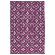 Kaleen BRI04-95A Brisa Collection Reversible Purple & amp; Ivory Outdoor Rug