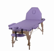 The Best Massage Table 3 Fold Purple Reiki Portable Massage Table - PU Leather w/ Free Acessories