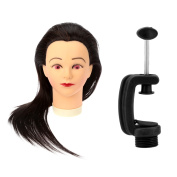 Anself 60cm Cosmetology Hairdressing Training Mannequin Head with Clamp