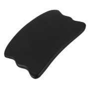 Unique Bargains Traditional Acupuncture 8.9cm Buffalo Horn Gua Sha Massage Board Beauty Tool
