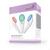 Ivation Light Therapy System Red Blue Green LED Light for Acne, Wrinkles and Hyperpigmentation