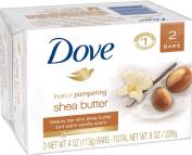 Dove Purely Pampering Shea Butter Beauty Bar, 120ml, 2 Bar