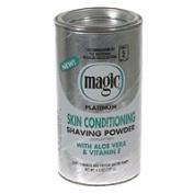 Magic Skin Conditioning Shaving Powder With Aloe And Vitamin E, Platinum - 130ml