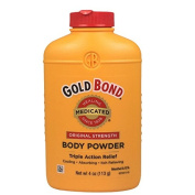 Gold Bond Body Powder, Medicated, Original Strength, 120ml Each