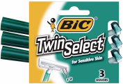 Bic Twin Select Shavers For Sensitive Skin 3 ea