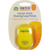 iGo Soap to Go Lemon Scent Shaving Soap Petals, 50 count