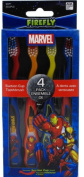 Dr. Fresh Marvel Heroes Suction Cup Toothbrushes Characters May Vary 4 Each