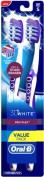 Oral-B 3D White Pro-Flex Toothbrush Full Head, Soft 2 ea