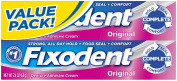 Fixodent Original Denture Adhesive Cream, Value Pack 140ml